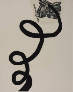 Jim Dine (American 1935 - ). Tool Box IX,  Screenprint and collage. 1966