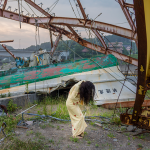 Eiko in Fukushima, Tomioka No. 1104, 22 July 2014, digital photo, 13.3x20, photo by William Johnston.