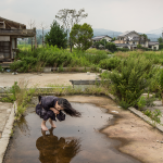 Eiko in Fukushima, Yaburemachi No. 672, 23 July 2014, digital photo, 13.3x20, photo by William Johnston.