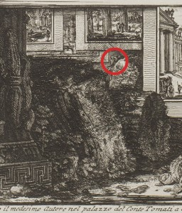 Detail: Giovanni Battista Piranesi (Italian, 1720-1778), Catalog of works to date published by Gio-Battista Piranesi, ca. 1761, etching. Weedon Endowment funds, 2014.